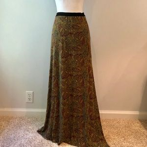 Free People paisley maxi skirt